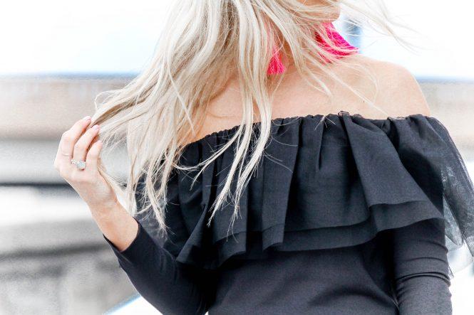 black off the shoulder dress - little black dress | www.lovenlabels.com