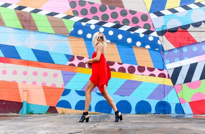 Red Hot Romper + 5 Instagrammable Wall Art Spots | love 'n' labels www.lovenlabels.com
