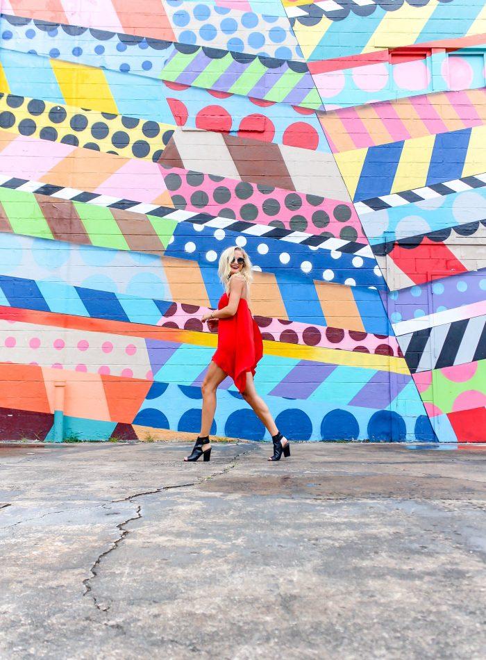 Red Hot Romper + 5 Instagrammable Wall Art Spots | love 'n' labels www.lovenlabels.com