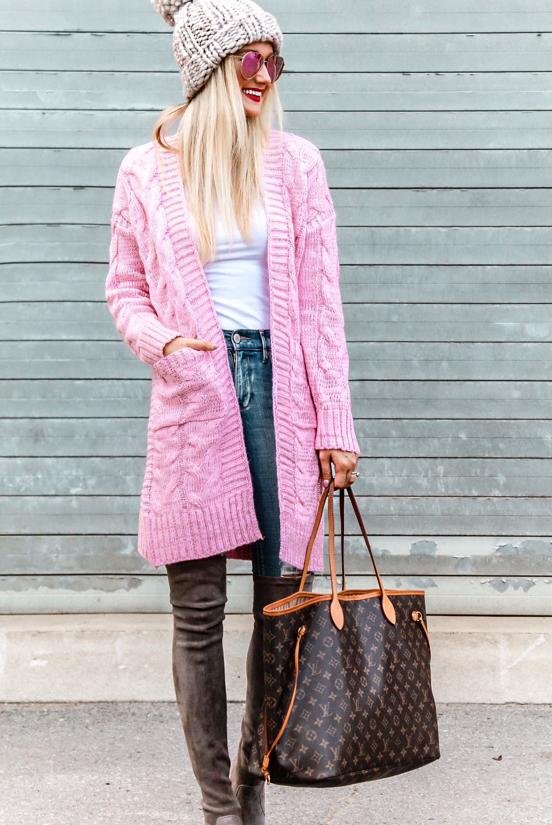 The Perfect Light Pink Cardi + My Trick to Whiter Teeth | love 'n' labels www.lovenlabels.com