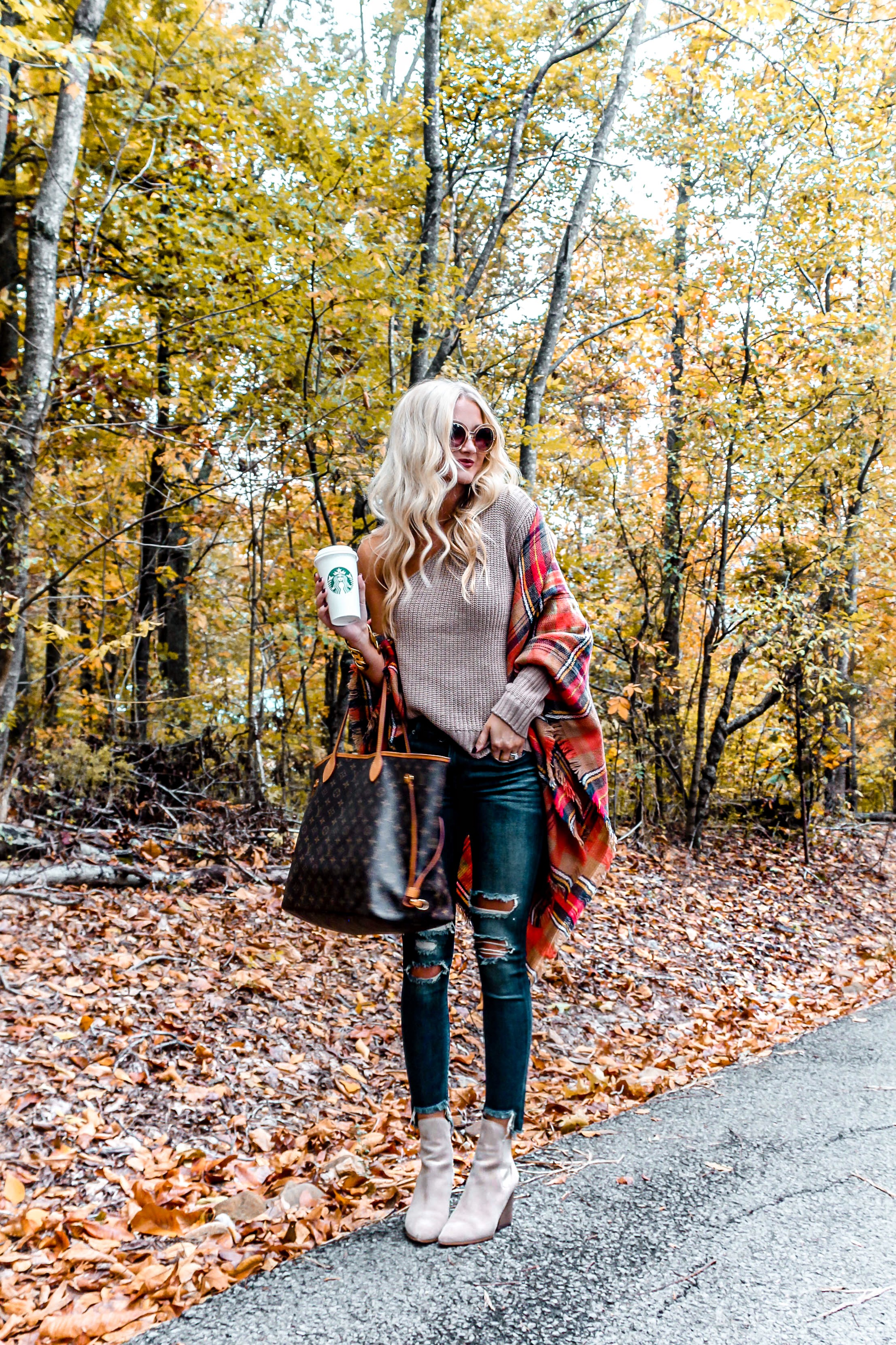 Affordable, Fall Outfit + Current Makeup Routine | love 'n' labels www.lovenlabels.com