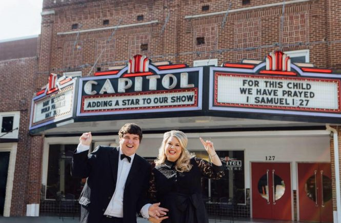 Baby Williams Gender Reveal at the Capitol Theatre | love 'n' labels www.lovenlabels.com