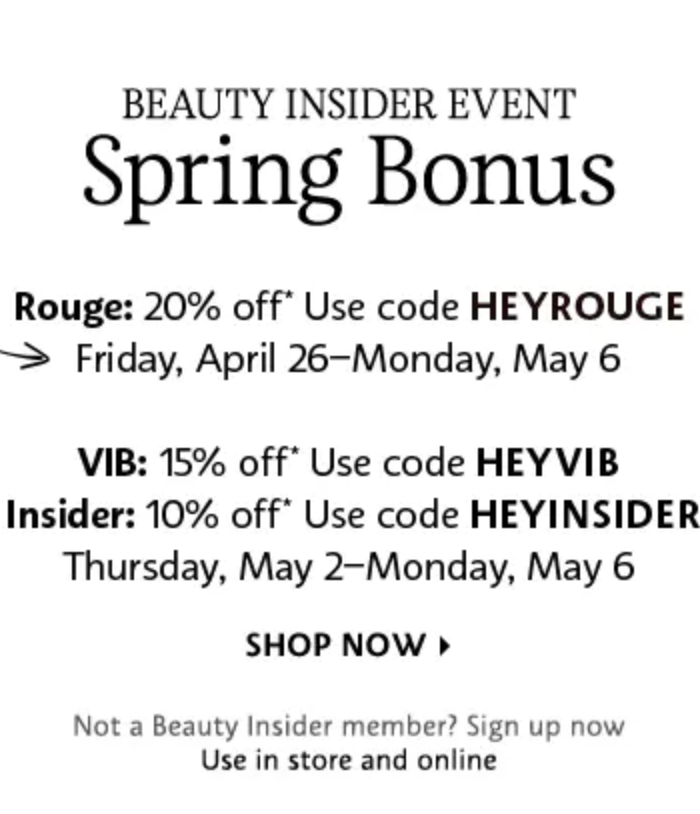 Sephora Beauty Insider Sale | love 'n' labels www.lovenlabels.com